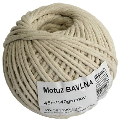Motúz Cotton 045 m/70 g, bavlna, BallPack