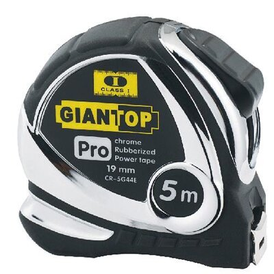 Meter GIANT CR-G44, 5 m, 19 mm, Chrome/Nylon, Class II, CE
